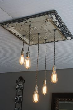 Farmhouse Edison Bulb Light Fixture by GreatLakesWoodStudio