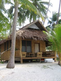 88 best images about Bahay kubo Surf Shack, Beach Shack, Beach Bungalows, Beach Resorts, Bamboo House Design, Hut House, Bahay Kubo, Tropical Architecture, Tiki Hut
