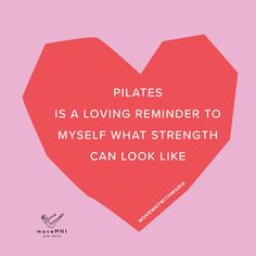 Pilates Quote - Pilates helps remind me that I am strong and I am deserving to be here. Core Pilates, Pilates Body, Pilates Studio, Pilates Reformer, Pilates Instructor, Fitness Quotes, Workout Quotes, Fitness Tips, Fitness Goals