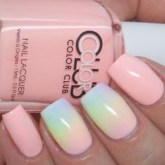 Color Club Hot-hot-hot Pants, sponged nails have all polishes from the 2015 Pastel Neon collection ; 5/17/15 ; carlysisoka