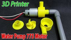 Build Powerful Water Pump With 775 Motor and Printer Diy Water Pump, Water Pump Motor, 3d Projects, Science Projects, Heron Fountain, Water Turbine, Cool New Gadgets, Submersible Pump, Modelos 3d