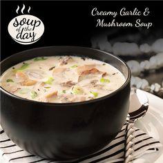 Creamy Garlic & Mushroom Soup Recipe from Taste of Home -- shared by Mandy Howison, Glenshaw, Pennsylvania