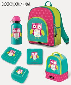 4ff5d3c734 Send your girl back to school in style with Crocodile Creek Owl  accessories! Backpack