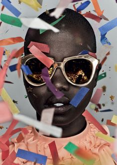 devoutfashion:  Karen Walker Celebrates 10 Years Of Iconic Eyewear Model: Nykhor Paul  BGKI - the #1 site to view fashionable & stylish black girls