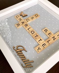 Personalised Family Scrabble 3D Box Frame. Gift, Birthday,Christmas,Wedding | eBay