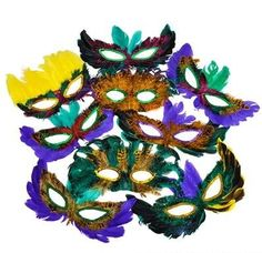 50 (Fifty) Pack of Mardi Gras Masquerade Party Feather Fa... http://www.amazon.com/dp/B005H7I80A/ref=cm_sw_r_pi_dp_Sq1oxb0ZFEF58