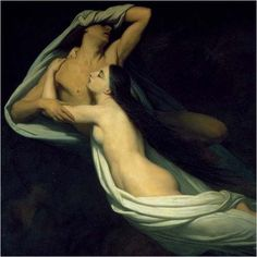 Paolo and Francesca from Dante's Divine Comedy (Inferno)