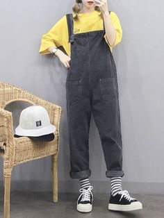 Discover ideas about Indie Outfits « ellee. Fashion 90s, Korean Girl Fashion, Korean Fashion Trends, Ulzzang Fashion, Korean Street Fashion, Korea Fashion, Trendy Fashion, Fashion Outfits, Overalls Fashion