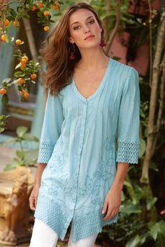 58a0c360181f Grenada Gauze Shirt from Soft Surroundings - Soft Peruvian crinkled cotton gauze  shirt