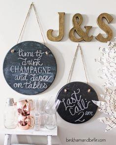 DIY: chalkboard signs / Faça você mesmo: placa lousa