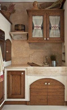 Rustic Country Kitchens, Farmhouse Kitchen Decor, Home Decor Kitchen, Kitchen Ideas, Design Case, Sweet Home, House Design, Interior Design, House Styles