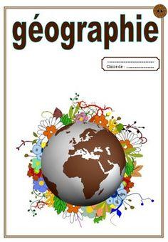 Page de garde du cahier de géographie