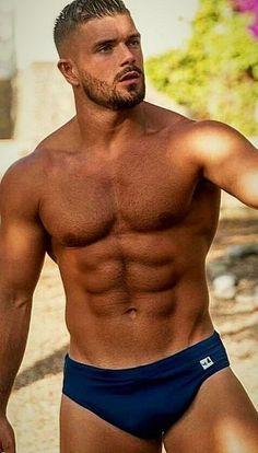 Hairy Men, Bearded Men, Hot Guys, Guys In Speedos, Men's Undies, Underwear, Beautiful Men Faces, Hommes Sexy, Athletic Men