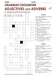 English Grammar Crossword Comparative Adjectives. http