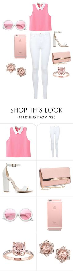 """""""Pink Panther"""" by phoebe-mcguire ❤ liked on Polyvore featuring WithChic, Miss Selfridge, Schutz, New Look and ZeroUV"""