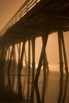 Imperial Beach Pier in the Fog (Night) by TallCJ Imperial Beach Pier, San Diego Travel, Beach Room, California Dreamin', Us Beaches, Beautiful Places In The World, Travel Goals, The Neighbourhood, Places To Go