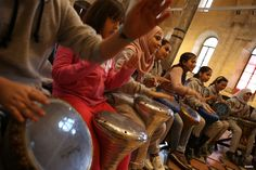GAZIANTEP, TURKEY- Syrian refugees living in Turkey expressing themselves through music