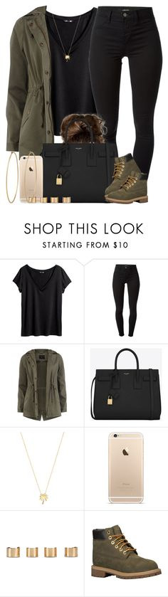 """Pull up in that all Black. 🕴"" by livelifefreelyy ❤ liked on Polyvore featuring H&M, J Brand, Dorothy Perkins, Yves Saint Laurent, Joolz by Martha Calvo, Maison Margiela, Timberland and Social Anarchy"