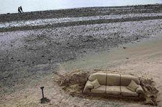 Divano di sabbia sul Tamigi