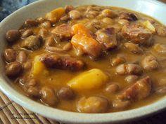 Spanish Kitchen, Spanish Food, Spanish Recipes, Chorizo, My Favorite Food, Favorite Recipes, Comida Latina, Island Food, Bean Recipes