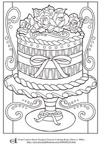 Adult Coloring Page - Decorative Cake