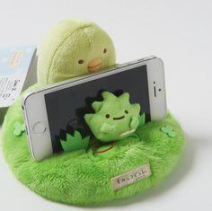 Sumikko Gurashi Plushie Multi-Use Stand - Sumikko Sanpo kawaii phone holder Sumiko Gurashi, Kawaii Bedroom, Unicorn Pillow, Cute Stuffed Animals, Mode Shop, All Things Cute, Ipad, Birthday Presents, Cute Guys