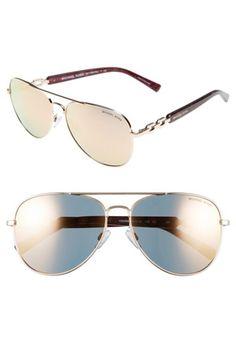 Women's Michael Kors Collection 58mm Aviator Sunglasses