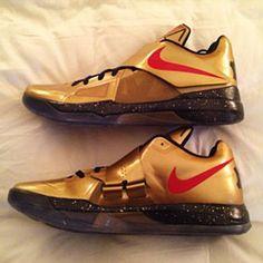 a70a379f6924 Nike Zoom KD IV Gold Medal (2) Nike Basketball Shoes