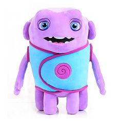 Dreamworks home - Talking Captain Smek Plush Toy - Squeeze His Tummy To Hear 5 Key Phrases from the Movie - Lightweight, Soft, Cuddly Toy - Makes for a Great Travel Buddy Dreamworks Home, Thing 1, Home Movies, 10th Birthday, Puppets, Minions, Besties, Plush, Baby Shower