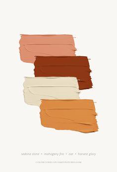 September Color Scheme Grab the color codes for HEX, Benjamin Moor. - September Color Scheme Grab the color codes for HEX, Benjamin Moore, and Pantone at O - Palettes Color, Colour Pallette, Colour Schemes, Color Combos, Rustic Color Palettes, Bedroom Color Palettes, Bathroom Color Schemes, House Color Schemes, Bedroom Colors