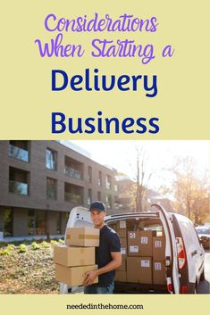 A delivery business is a necessary service with online orders and grocery pick up or delivery. Consider these tips when starting a delivery business. #Entrepreneur #SideHustle #DeliveryBusiness #GroceryDelivery #PackageDelivery #PackageDelivery #NeededInTheHome Package Delivery, Parcel Delivery, Grocery Delivery Service, Business Entrepreneur, Business Tips, Meaning Of Community, Drive All Night, Create A Magazine, Storage Auctions