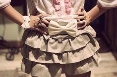 cute ruffle belt