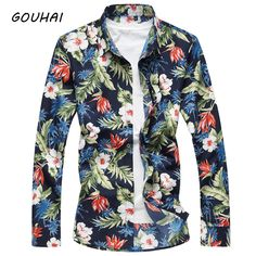 Barato 2018 Outono Novos Homens Da Moda Camisa de Manga Comprida Camisa de  Vestido homens Plus f4d746841e009