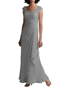 MaliaDress Womens Chiffon Empire Mother of Bride Dress M242LF Silver US16 *** Learn more by visiting the image link-affiliate link. #SweatersForWomen