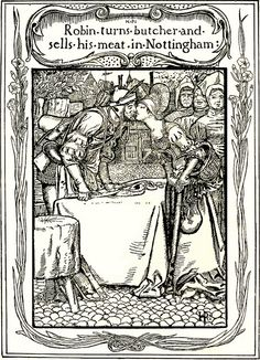 Howard Pyle- 'For a Kiss, Robin Hood gives the Meat to the Pretty Lasses' 1883 by Plum leaves, via Flickr