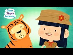 Walking In The Jungle-WALK, STOMP, JUMP, SKIP, INCLUDES FORWARD AND BACK EACH MOVEMENT | Super Simple Songs - YouTube