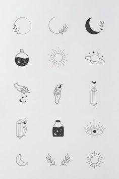 Cute Tiny Tattoos, Easy Tattoos, Tatoos, Easy Small Tattoos, Tiny Sun Tattoo, Boho Tattoos, Small Tattoos With Meaning, Tattoo Sun, Unique Small Tattoo