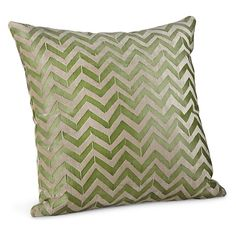 Herringbone Pillows in Moss - Modern Patterned Throw Pillows - Modern Home Decor - Room & Board