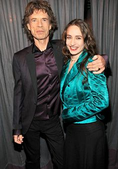 Mick Jagger and daughter Elizabeth Jagger