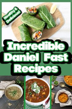 These delicious meals are all vegan and Daniel Fast friendly. Your family will love these healthy meals. Even if you're only eating vegan once a week, you'll benefit from plant based eating! #DanielFast #VeganRecipes #DanielFastMeals Quick Healthy Meals, Delicious Meals, Yummy Food, Healthy Recipes, Sweets Recipes, Yummy Treats, Daniel Fast Recipes, Plant Based Eating, Vegan Dinner Recipes