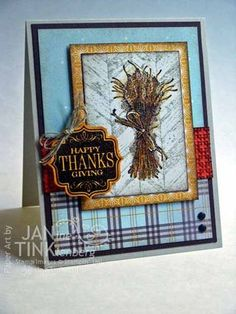 Stampin' Up! Truly Grateful - Jan Tinklenberg, Stampin' Up! Thanksgiving Greeting Cards, Fall Cards, Holiday Cards, Christmas Cards, Halloween Cards, Fall Halloween, Scrapbook Cards, Scrapbooking, Card Tags
