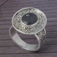 LABRADORITE 925 SOLID STERLING SILVER RING JEWELLERY 6.20g DJR3790 #Handmade #Ring
