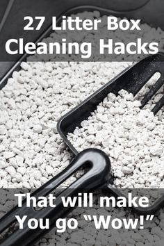 """27 Litter Box Cleaning Hacks that Will Make You Go """"Wow!"""" Article by litter-boxes.com #LitterBoxes #TCS #TheCatSite #cat #cats #kitten #kittens #catsandkittens #catcare #litter #litterbox"""