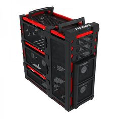 Computer cases | ... Computer Case - Red - No PSU | Digital Sushi - Board games, PC, Mac