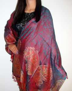 Designer India shawls with unique designs custom made for Yours Elegantly on sale so you can look beautiful with a one of a kind shawl treasure.