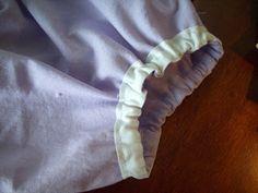 elastic casing legs, arm etc  Single Fold Bias Tape tutorial