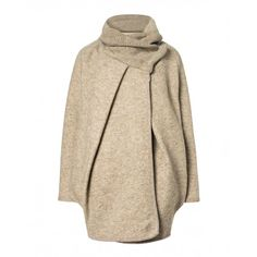 Jacket, made of boiled wool, ovoid fit with tricot wool collar.
