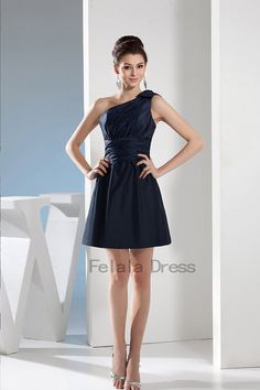 Navy+evening+dress++short+bridesmaid+dress+ +navy+ fb036257ac54