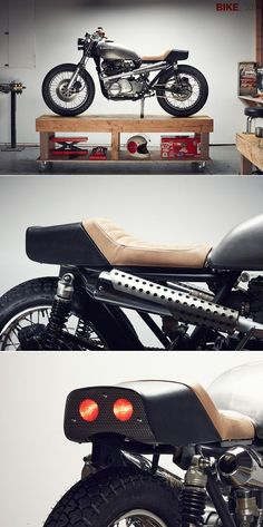 Motorcycle helmet designer Chad Hodge, famous for his retro Bell Bullitt concept, has turned his hand to building bikes. This is his first, a Kawasaki KZ750, and it's absolutely #Motorbike  http://motorbikegallery103.lemoncoin.org