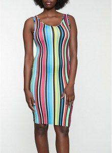 Striped Tank Bodycon Dress Size: Medium . . Shop for cute dresses, find discounts, coupon codes, promo on dresses! #cheapdresses #fashiondiscount #cutedress #dresses #outfits Cheap Dresses, Cute Dresses, Beautiful Dresses, Figure Flattering Dresses, Mode Blog, Discount Clothing, Mid Length Dresses, Faux Wrap Dress, Striped Tank